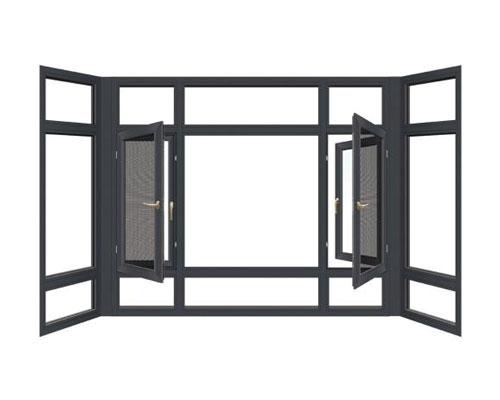GR108窗纱一体穿条平开窗